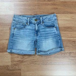 American Eagle Super Stretch Midi Jean Shorts